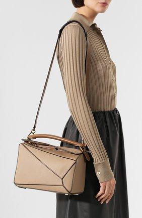 Женская сумка puzzle LOEWE бежевого цвета, арт. 32212KBS20 | Фото 5
