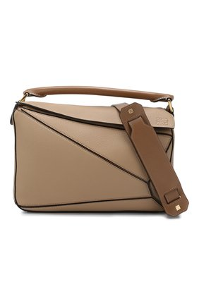 Женская сумка puzzle LOEWE бежевого цвета, арт. 32212KBS20 | Фото 6