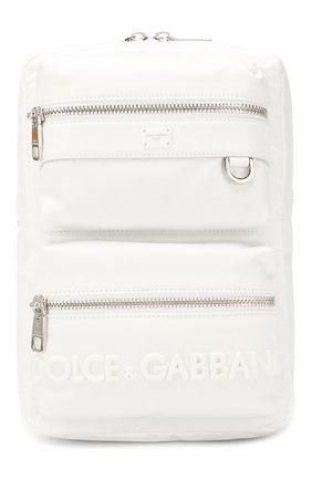 Мужской текстильный рюкзак sicilia dna DOLCE & GABBANA белого цвета, арт. BM1703/AZ675 | Фото 1