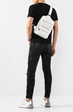 Мужской текстильный рюкзак sicilia dna DOLCE & GABBANA белого цвета, арт. BM1703/AZ675 | Фото 2