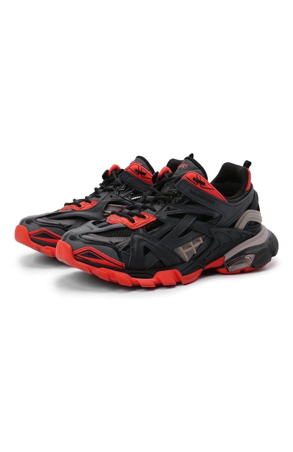 Мужские комбинированные кроссовки track.2 BALENCIAGA черного цвета, арт. 568614/W2GN3   Фото 1