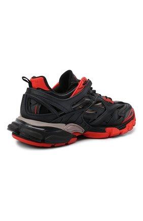 Мужские комбинированные кроссовки track.2 BALENCIAGA черного цвета, арт. 568614/W2GN3   Фото 4
