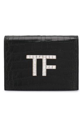 Женская сумка из кожи аллигатора TOM FORD черного цвета, арт. L1122P-EAL001/AMIS | Фото 1
