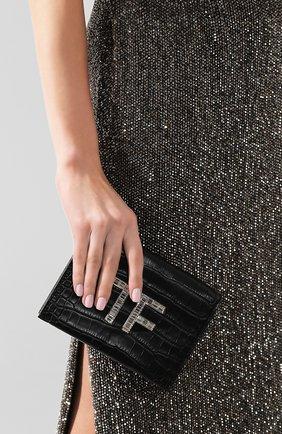 Женская сумка из кожи аллигатора TOM FORD черного цвета, арт. L1122P-EAL001/AMIS | Фото 2