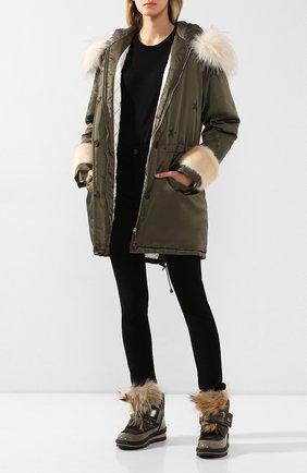 Женские текстильные ботинки JOG DOG бронзового цвета, арт. 14056R/DR_ZAFFIR0FLASH/NATURAL FUR/W | Фото 2