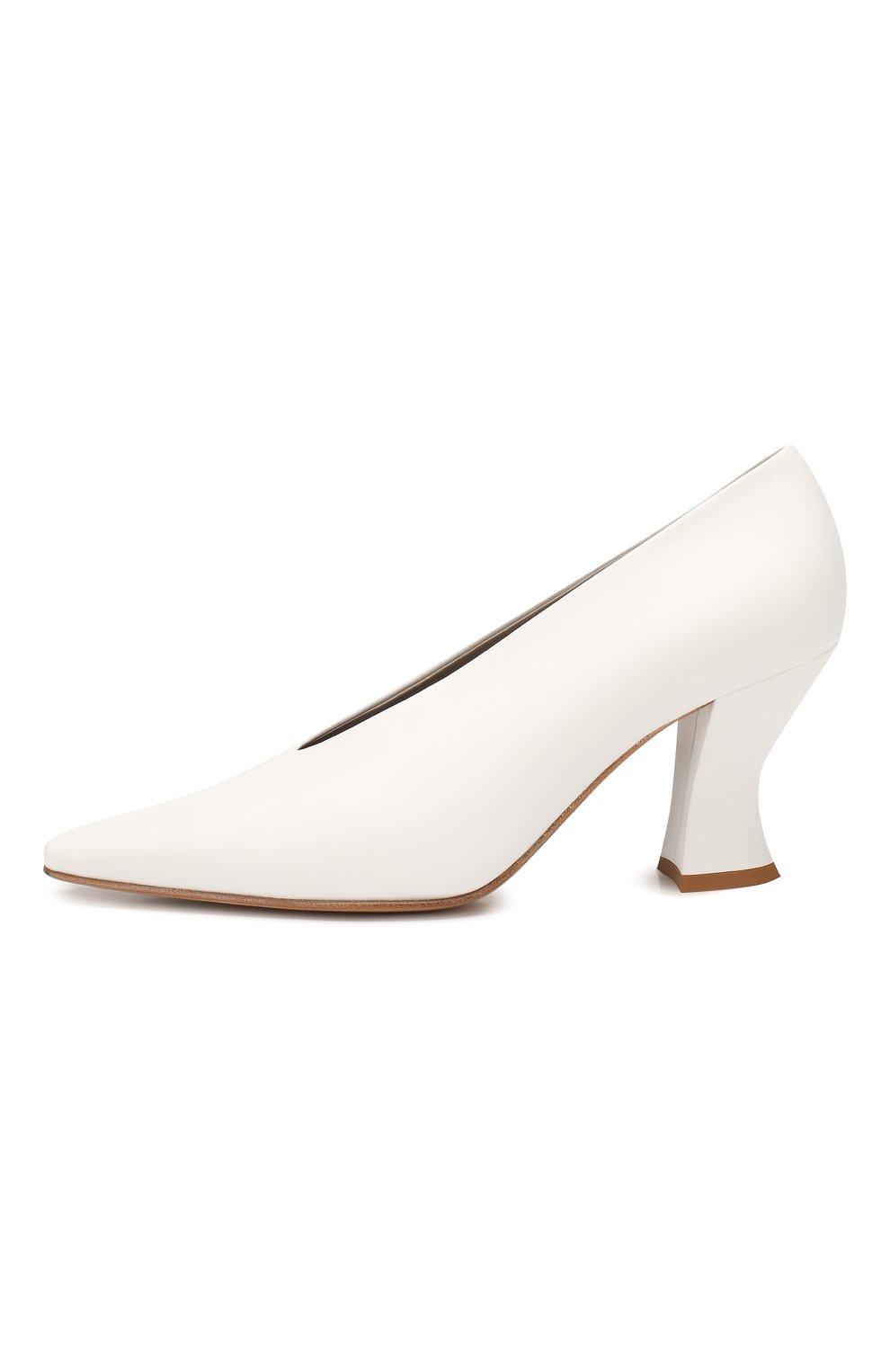 Женские кожаные туфли BOTTEGA VENETA белого цвета, арт. 608839/VBSD0   Фото 3