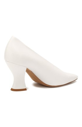 Женские кожаные туфли BOTTEGA VENETA белого цвета, арт. 608839/VBSD0   Фото 4