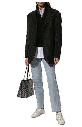 Женские кожаные кеды andy SAINT LAURENT белого цвета, арт. 606831/0M500 | Фото 2