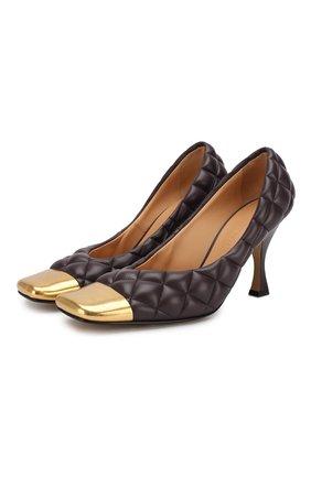Женская кожаные туфли BOTTEGA VENETA бордового цвета, арт. 592040/VBRR0 | Фото 1