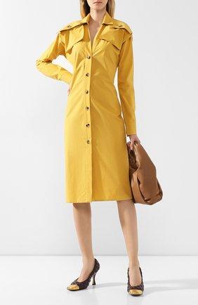 Женская кожаные туфли BOTTEGA VENETA бордового цвета, арт. 592040/VBRR0 | Фото 2