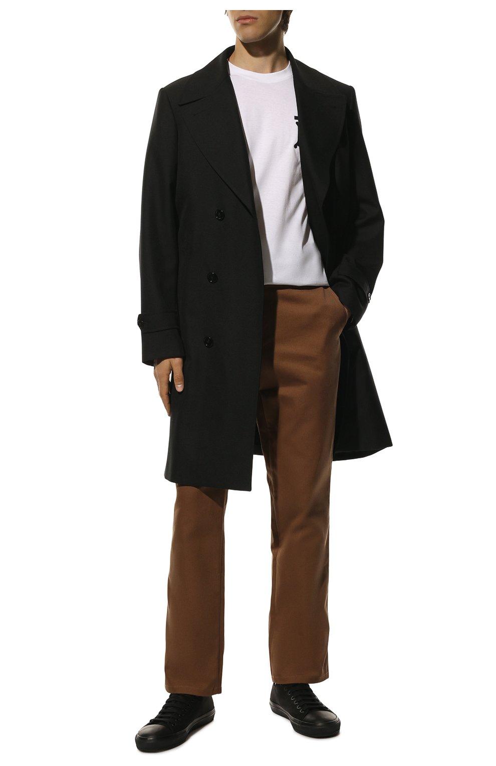 Мужские текстильные кеды BURBERRY черного цвета, арт. 8018275 | Фото 2