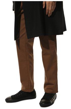 Мужские текстильные кеды BURBERRY черного цвета, арт. 8018275 | Фото 3
