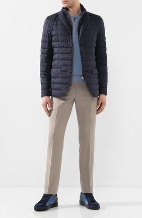 Мужские текстильные кеды DOUCAL'S темно-синего цвета, арт. DU2382ERICPZ443BM07 | Фото 2
