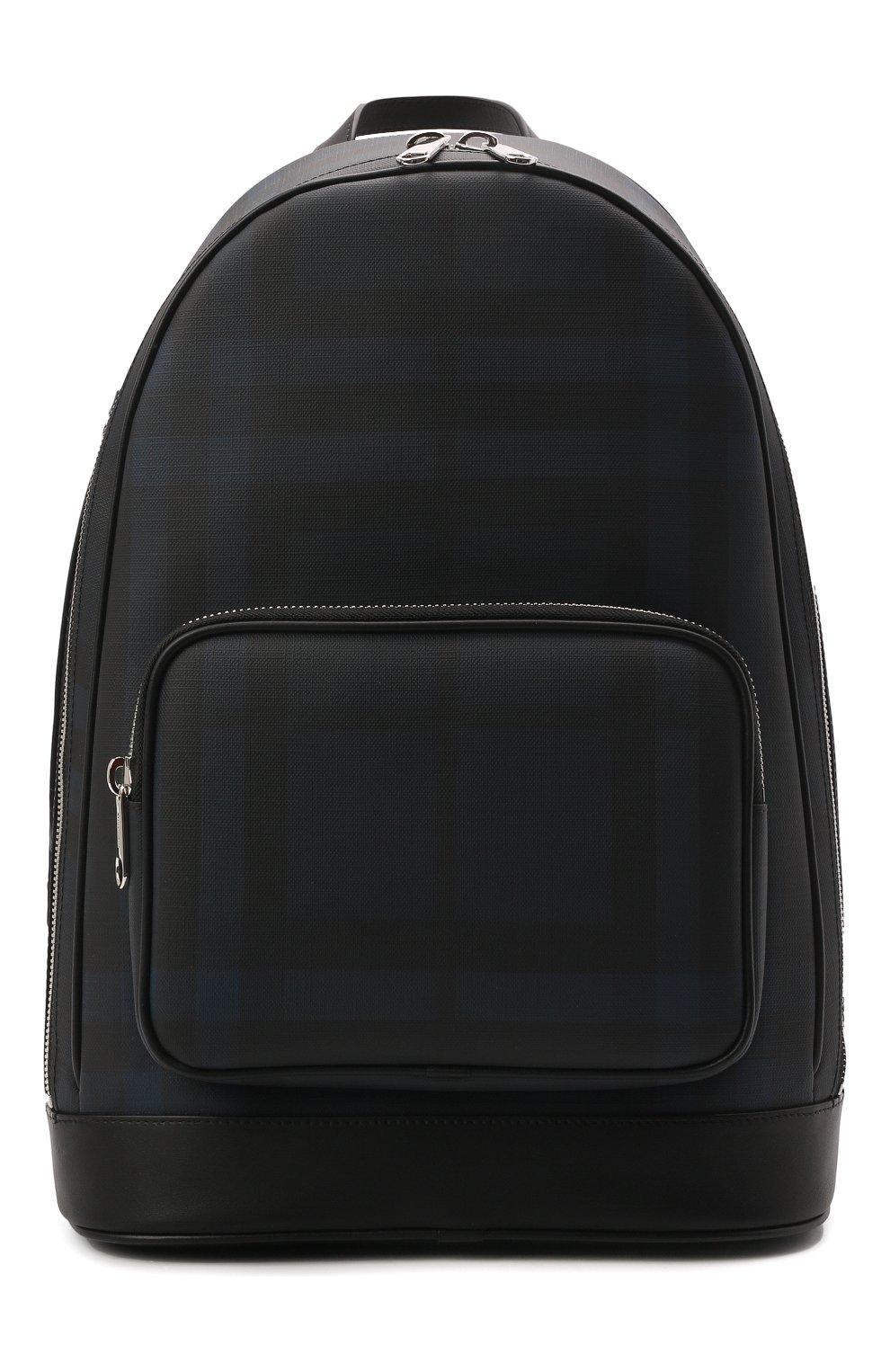 Мужской рюкзак BURBERRY синего цвета, арт. 8023699 | Фото 1