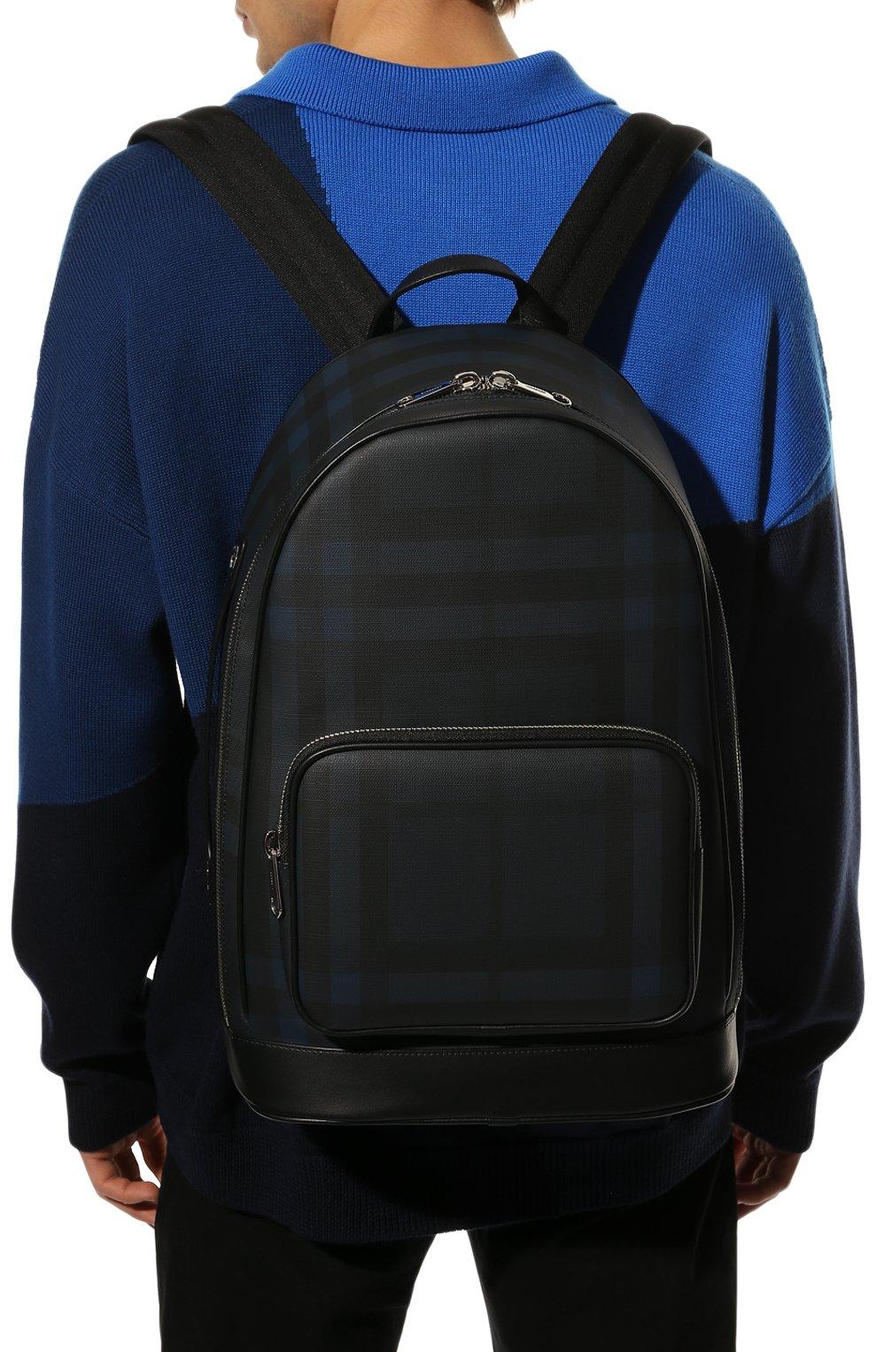 Мужской рюкзак BURBERRY синего цвета, арт. 8023699 | Фото 2