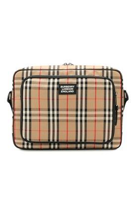 Мужская сумка-мессенджер BURBERRY бежевого цвета, арт. 8023023 | Фото 1