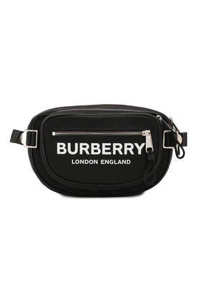 Мужская поясная сумка BURBERRY черного цвета, арт. 8022786 | Фото 1