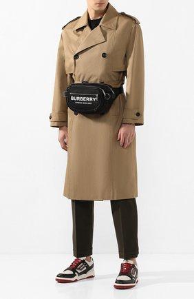 Мужская поясная сумка BURBERRY черного цвета, арт. 8022786 | Фото 2