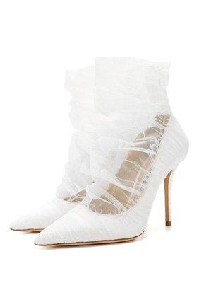 Женская туфли lavish 100  JIMMY CHOO белого цвета, арт. LAVISH 100/ZXC | Фото 1