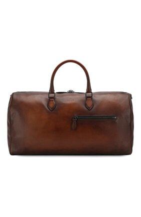 Мужская дорожная сумка BERLUTI коричневого цвета, арт. M190646 | Фото 1