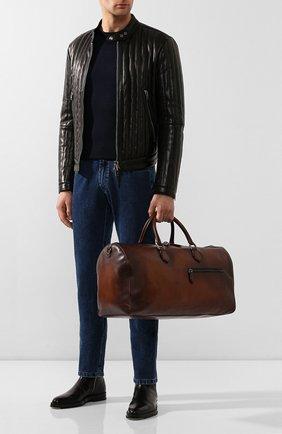 Мужская дорожная сумка BERLUTI коричневого цвета, арт. M190646 | Фото 2