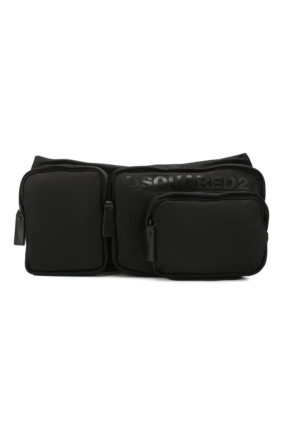 Мужская текстильная поясная сумка DSQUARED2 черного цвета, арт. BBM0020 11702174   Фото 1