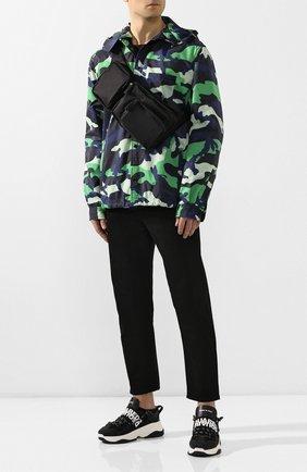 Мужская текстильная поясная сумка DSQUARED2 черного цвета, арт. BBM0020 11702174   Фото 2