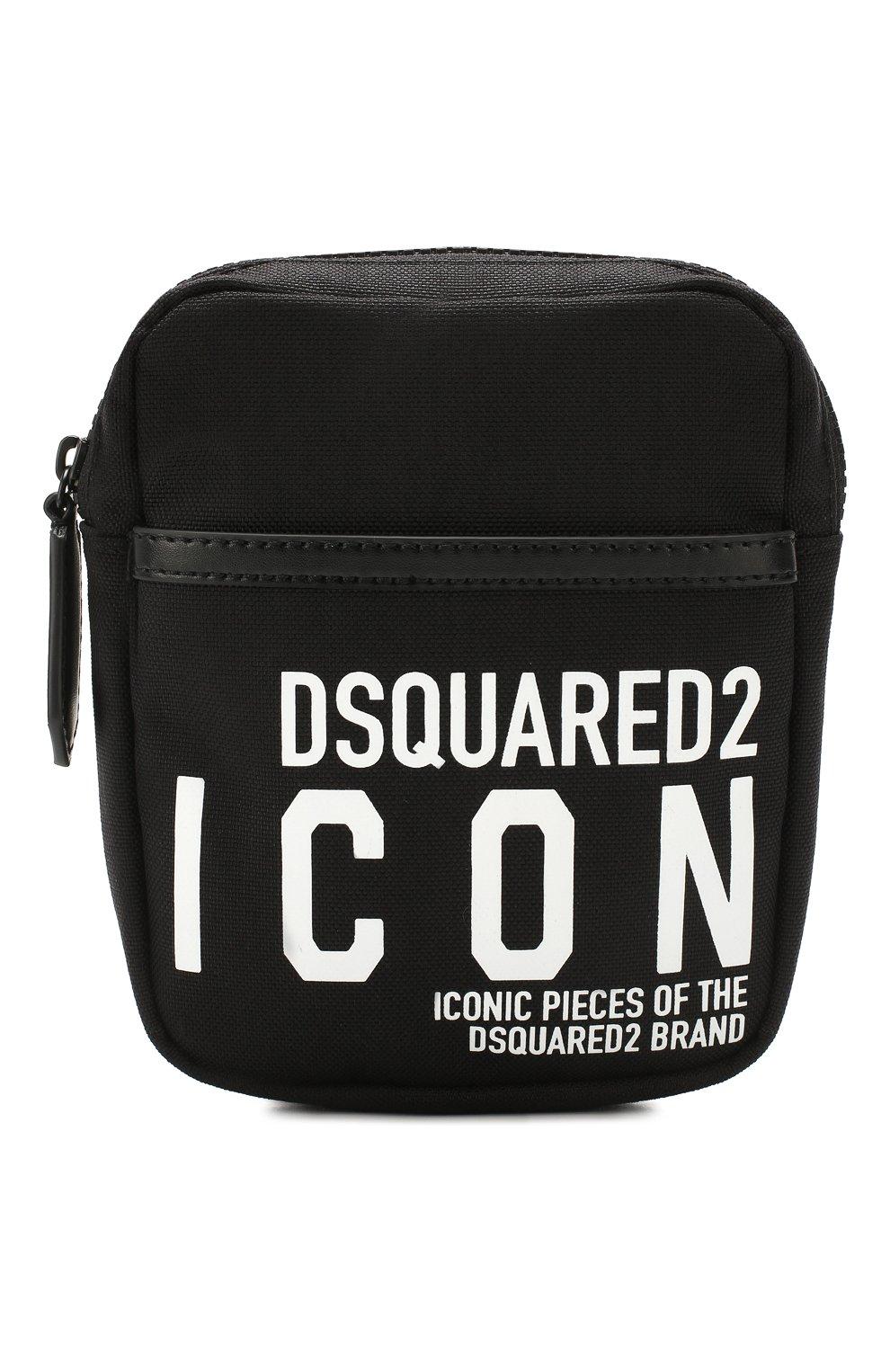 Мужская поясная сумка DSQUARED2 черного цвета, арт. BBM0019 11702649 | Фото 1