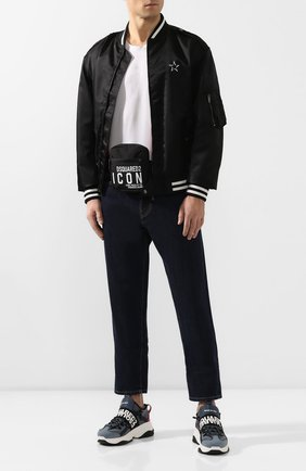 Мужская поясная сумка DSQUARED2 черного цвета, арт. BBM0019 11702649 | Фото 2