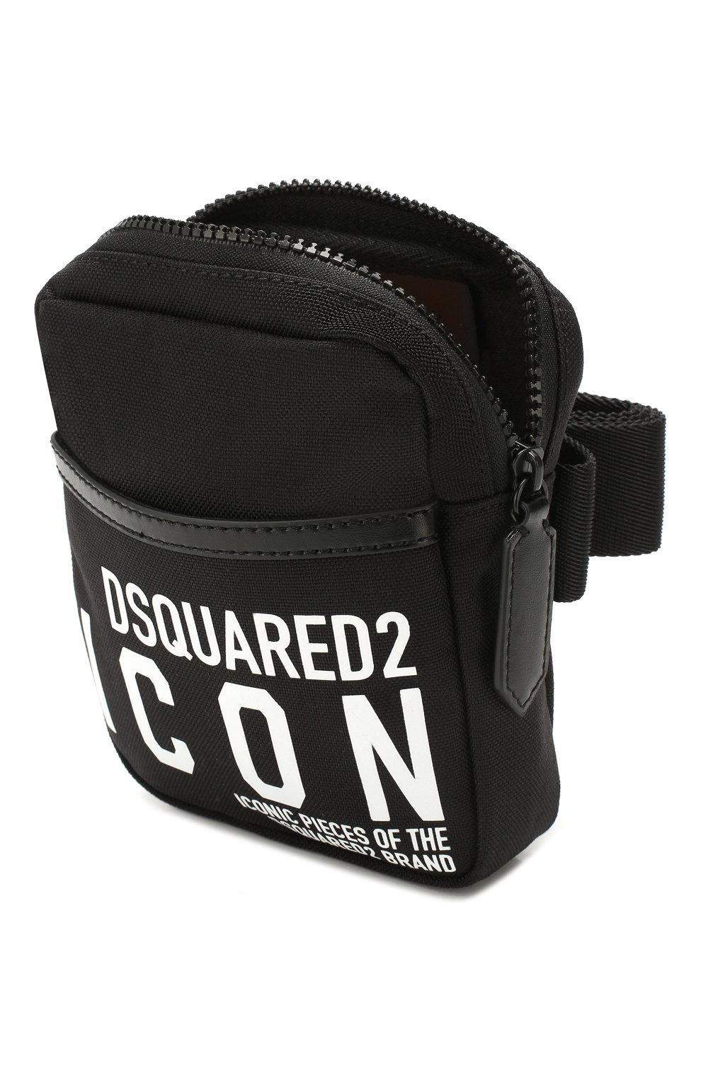Мужская поясная сумка DSQUARED2 черного цвета, арт. BBM0019 11702649 | Фото 4