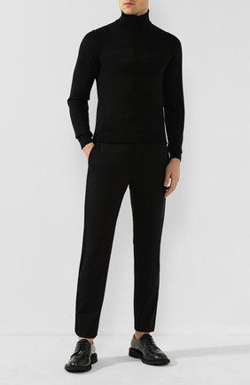 Мужской кожаные дерби BOTTEGA VENETA темно-серого цвета, арт. 608734/VBPB1 | Фото 2
