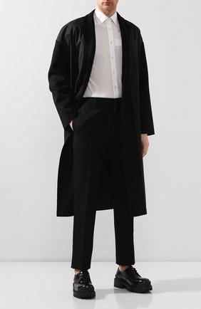 Мужской кожаные дерби BALENCIAGA черного цвета, арт. 600600/WA9D0 | Фото 2