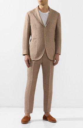 Мужские замшевые эспадрильи BRUNELLO CUCINELLI коричневого цвета, арт. MZUCCLQ875 | Фото 2