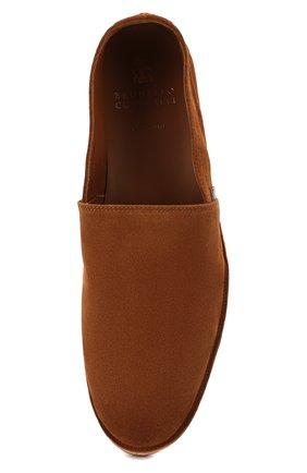 Мужские замшевые эспадрильи BRUNELLO CUCINELLI коричневого цвета, арт. MZUCCLQ875 | Фото 5