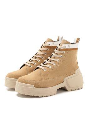 Женские замшевые ботинки alpha rangers PIERRE HARDY бежевого цвета, арт. TK02/CALF | Фото 1