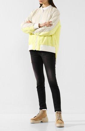 Женские замшевые ботинки alpha rangers PIERRE HARDY бежевого цвета, арт. TK02/CALF | Фото 2