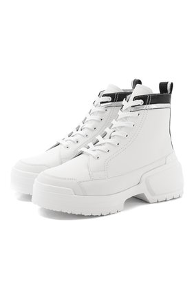 Женские кожаные ботинки alpha rangers PIERRE HARDY белого цвета, арт. TK02/CALF-LAMB | Фото 1