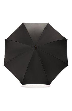Женский зонт-трость PASOTTI OMBRELLI черного цвета, арт. 189/RAS0 9C636/2/PELLE | Фото 1