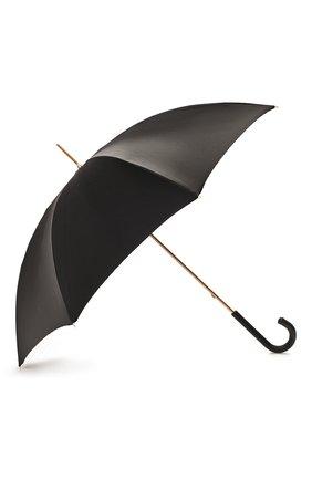 Женский зонт-трость PASOTTI OMBRELLI черного цвета, арт. 189/RAS0 9C636/2/PELLE | Фото 2