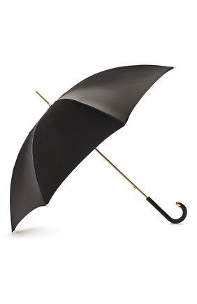 Женский зонт-трость PASOTTI OMBRELLI черного цвета, арт. 189/RAS0 5G468/1/M17 | Фото 2
