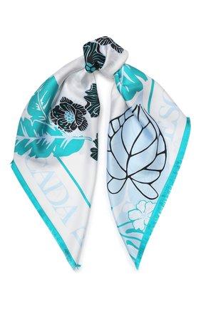 Женский шелковый платок ESCADA SPORT бирюзового цвета, арт. 5032400 | Фото 1