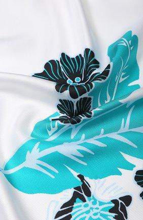 Женский шелковый платок ESCADA SPORT бирюзового цвета, арт. 5032400 | Фото 2