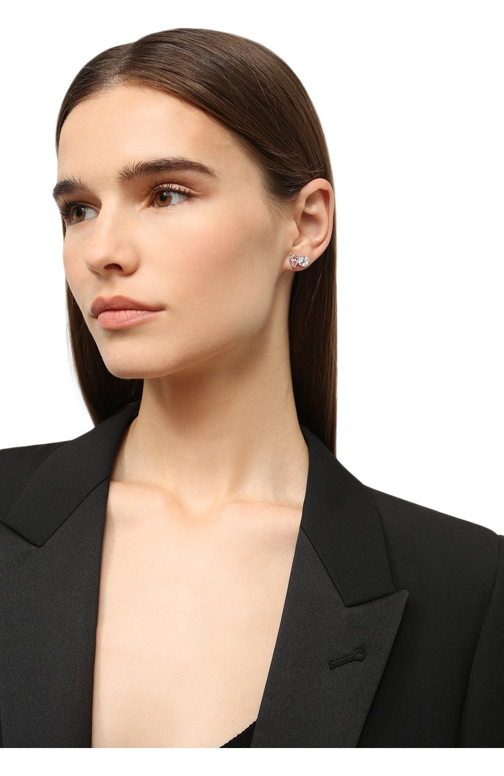 Женские серьги attract SWAROVSKI серебряного цвета, арт. 5517118 | Фото 2