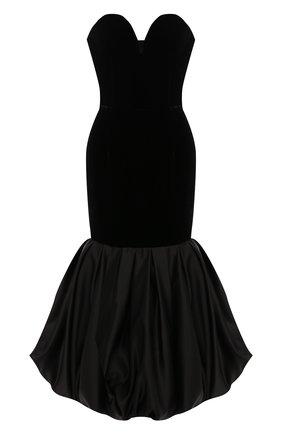 Женское бархатное платье RASARIO черного цвета, арт. 0049W9 | Фото 1