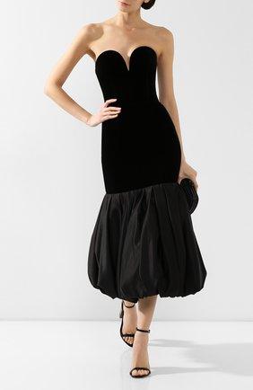 Женское бархатное платье RASARIO черного цвета, арт. 0049W9 | Фото 2