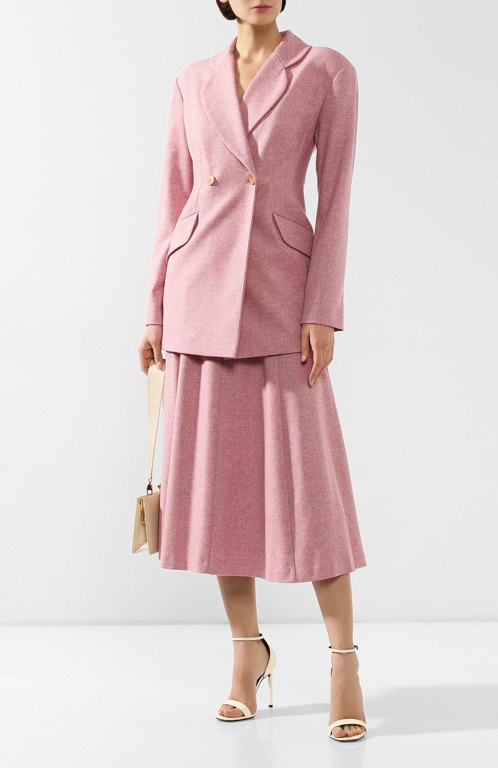 Женская шерстяная юбка ULYANA SERGEENKO розового цвета, арт. 0259р18 (GNM001FW19P)   Фото 2