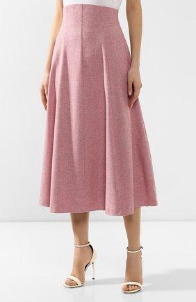 Женская шерстяная юбка ULYANA SERGEENKO розового цвета, арт. 0259р18 (GNM001FW19P)   Фото 3