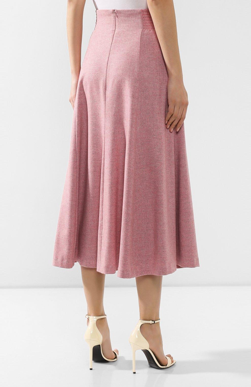 Женская шерстяная юбка ULYANA SERGEENKO розового цвета, арт. 0259р18 (GNM001FW19P)   Фото 4