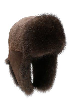 Шапка-ушанка из меха норки | Фото №1