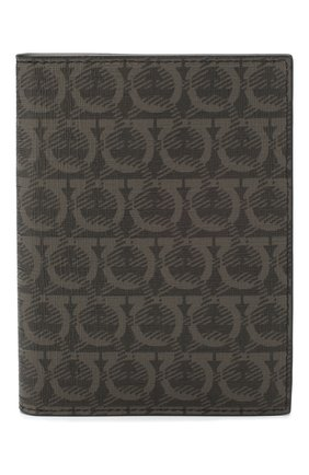 Мужская кожаная обложка для паспорта SALVATORE FERRAGAMO темно-серого цвета, арт. Z-0716498 | Фото 1